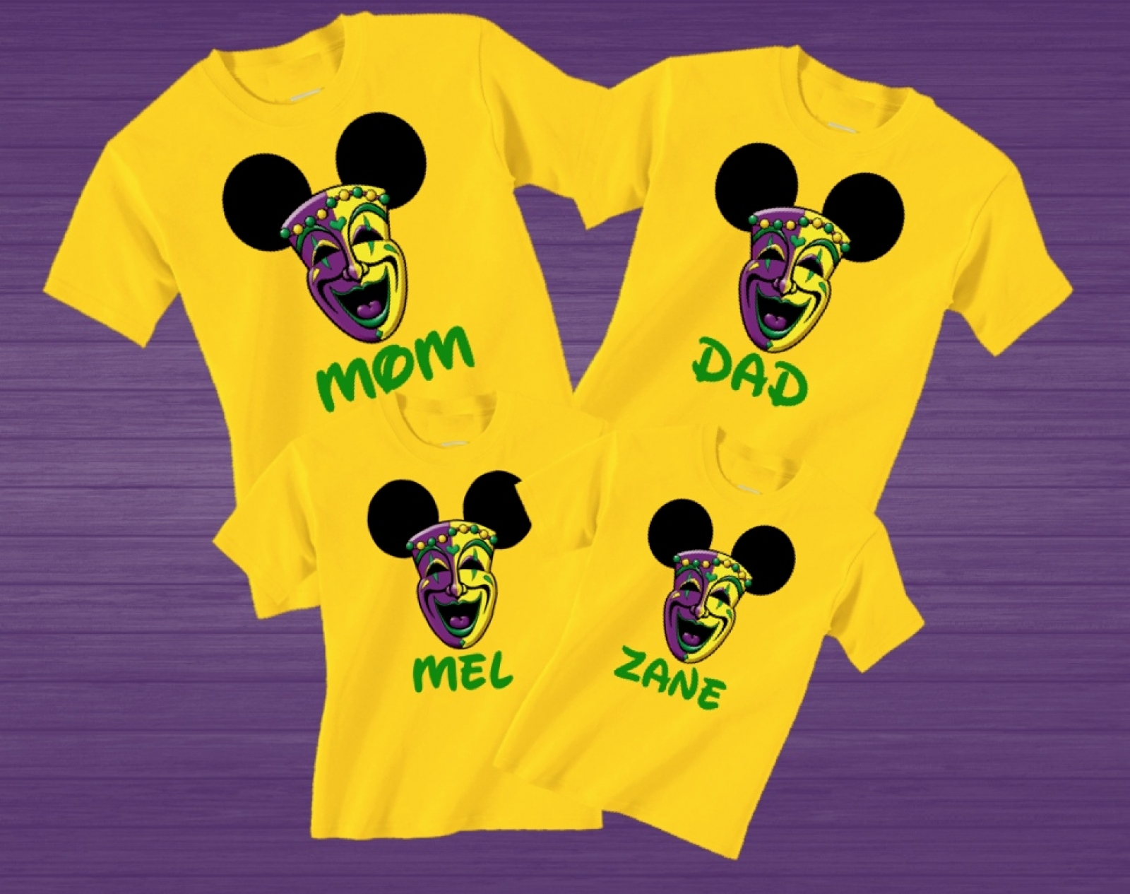 cc1842da Disney Mardi Gras Family Vacation T Shirts | The Official Site of ...