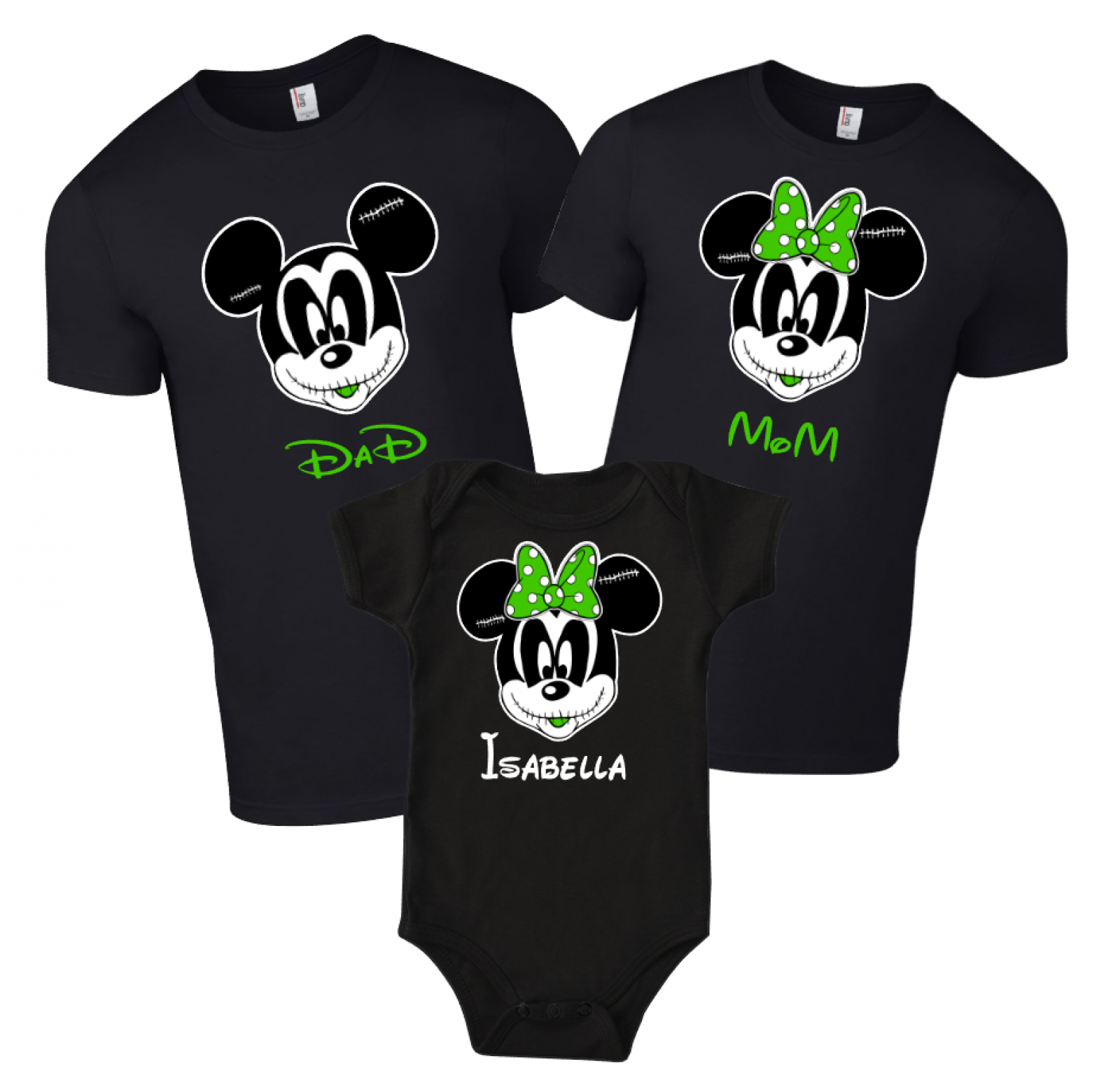 Disney Family THE NIGHTMARE BEFORE CHRISTMAS Custom T-Shirts | The ...