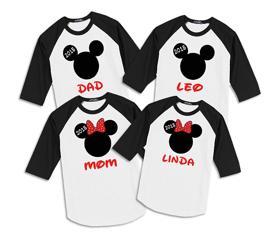 Disney Christmas Reindeer Family Vacation Raglan T Shirts