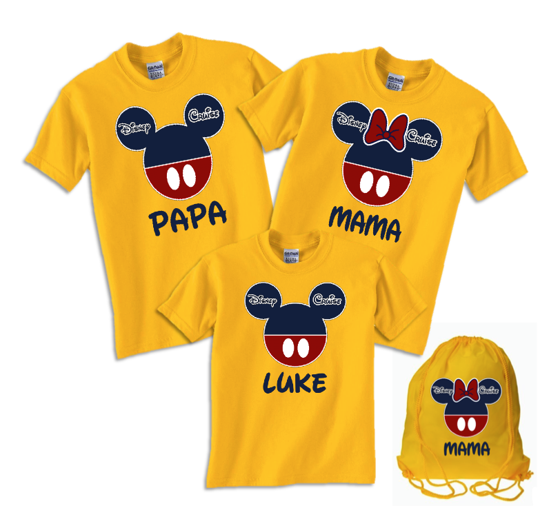 783d996a5 Disney Family Cruise Vacation T-Shirts Navy & Red | The Official Site of  Logan To Layla